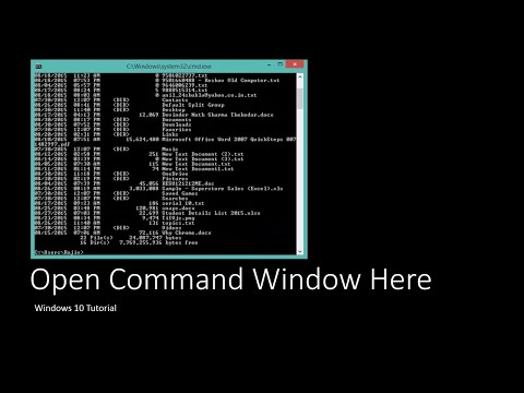 How to Open Commnad Prompt within Any Folder on Windows 10 | The Teacher