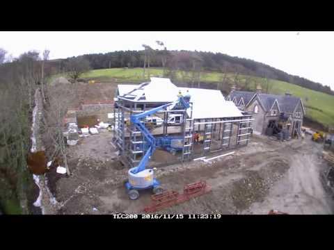 Timelapse distillery cam video of Raasay Distillery production hall build