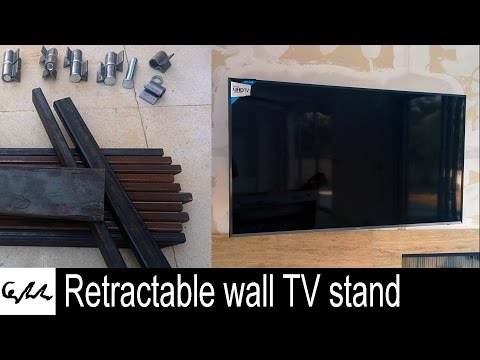 Retractable wall TV stand