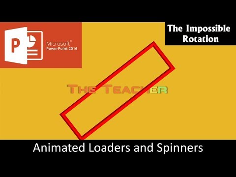 The Impossible Rotation Effect | Animated Loaders and Spinners in PowerPoint 2016 Tutorial