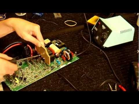 UPS to 1.5kW Sinewave Inverter Conversion part6 - Making the Modifications