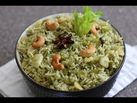 BEST CELERY PULAO WITH GARLIC TEMPERING
