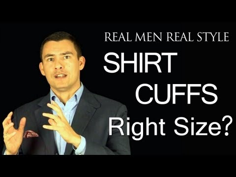 Men's Dress Shirt Cuffs - What is the right size? Button cuff proper proportion