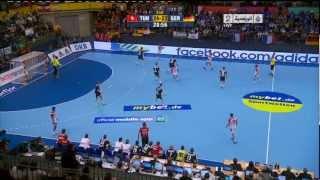#x202b;كاس العالم لكرة اليد 2013.. تونس تفوزعلى المانيا 25-23#x202c;lrm;