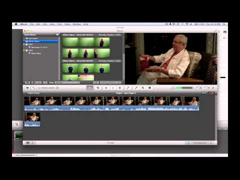 How to do green screen and cutaways on iMovie