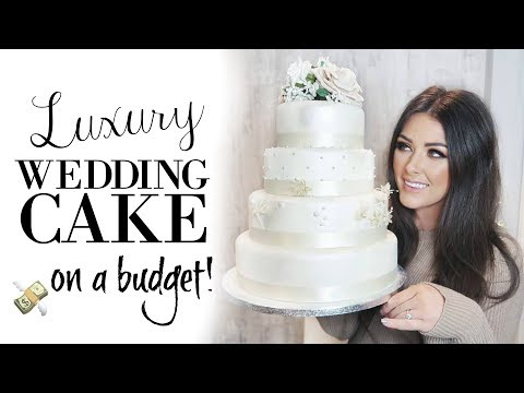HOW TO MAKE A WEDDING CAKE ON A BUDGET - UP TO 6 MONTHS IN ADVANCE!
