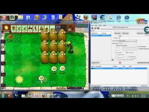 Plants vs Zombies Instant Refill and Sun Hack on Cheat Engine 6.0, 6.1