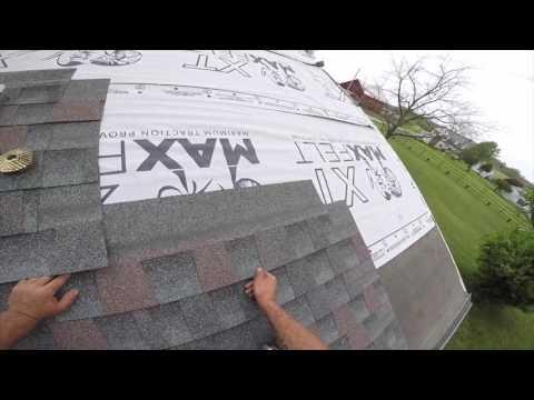 Architectural shingle install