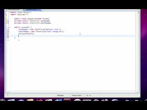 Java GUI Lesson 3 | JTextFields and Absolute Positioning
