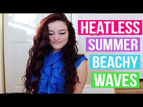 HEATLESS OVERNIGHT CURLS | SUMMER BEACHY WAVES