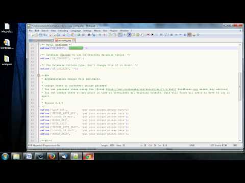 Complete WordPress Video Tutorial - 10 - Modifying the wp-config.php File