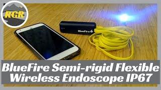 BlueFire Semi-rigid Flexible Wireless Endoscope IP67 | Product Review | Wifi Enable Endoscope