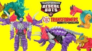 Transformers Dinobot Slug Triceratops Robots in Disguise Rescue Bots & Jurassic World Mashers