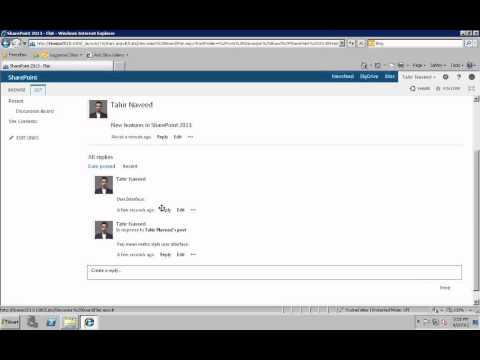 SharePoint 2013   Facebook style Discussion with Like Button