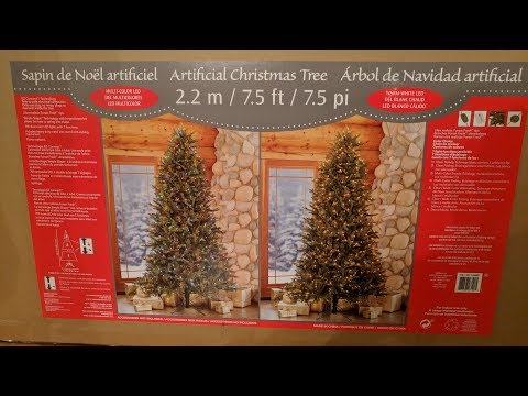 Costco 7.5' Artificial Pre-lit Christmas Tree Unboxing and Review