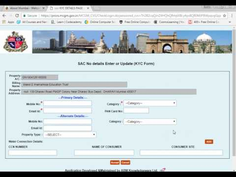 View and pay property tax online mumbai