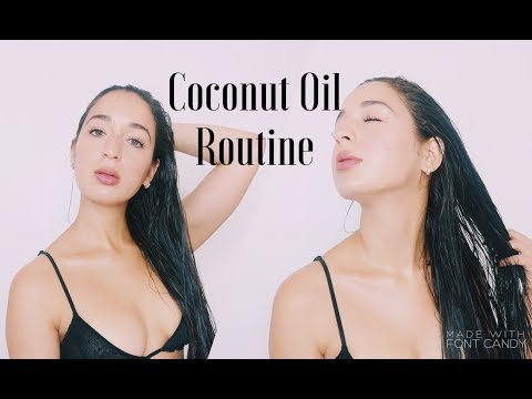 Coconut Oil Fall Routine | DIY, Hair and Skin | Wet Hair Look