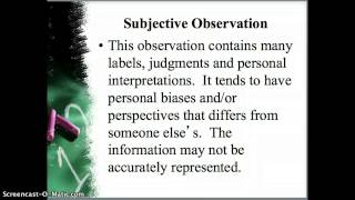 Writing Observations Part 1