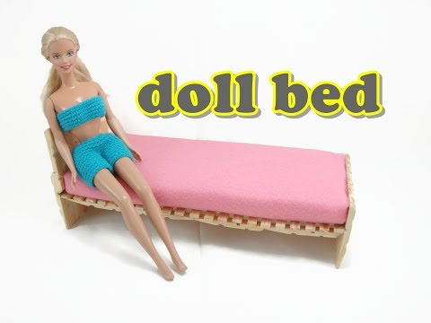 Doll Furniture Tutorial - Bed
