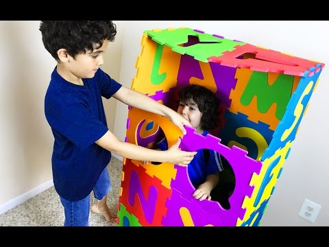Make BIG ABC squishy foam PUZZLE box. Numbers 0 to 9. Let's Play Kids.