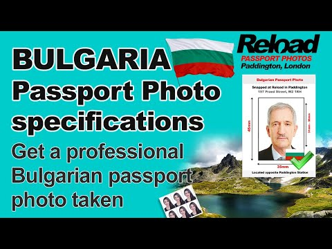 Get your Bulgarian Passport Photo or Visa Photo snapped in Paddington, London