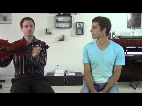 Comparing Between F And F# When First Learning Violin HD