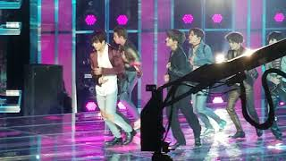 BTS - Fake Love side stage view of 2018 Billboard Music Awards Performance