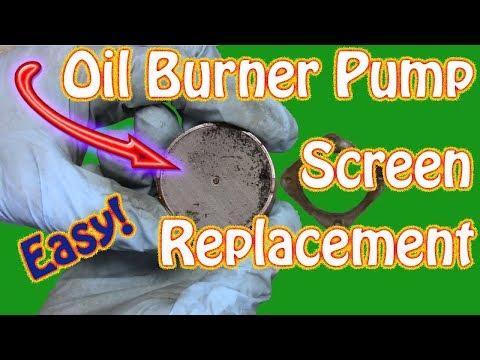 How to Replace a Heating Oil Burner Pump Screen - Biasi Boiler and Riello Burner Maintenance Part 2