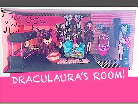HOW TO MAKE A MONSTER HIGH DOLL ROOM FOR DRACULAURA