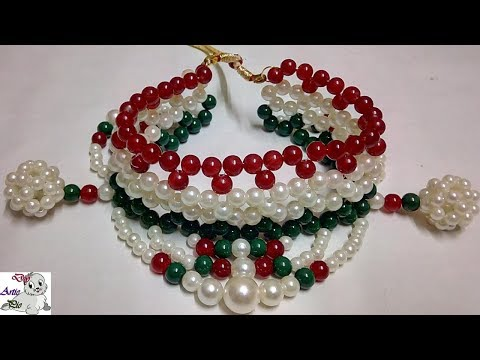 #48 How to Make Pearl Beaded Choker Necklace || Diy || Jewellery Making