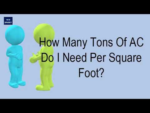 How Many Tons Of AC Do I Need Per Square Foot?
