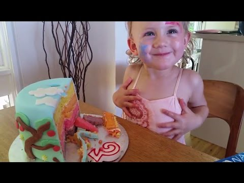Peppa Pig Cake Tutorial   Gluten-Free Fondant Cake with 4 Colourful Layers