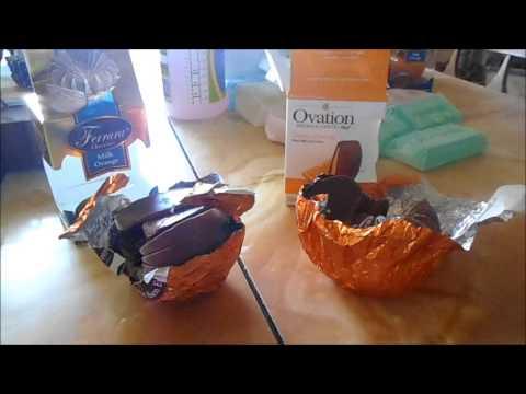 Break apart chocolate comparison  Ferrara vs Ovation