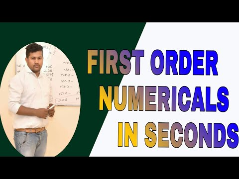 TRICK FOR NUMERICAL OF FIRST ORDER | IIT JEE | NEET | AIIMS