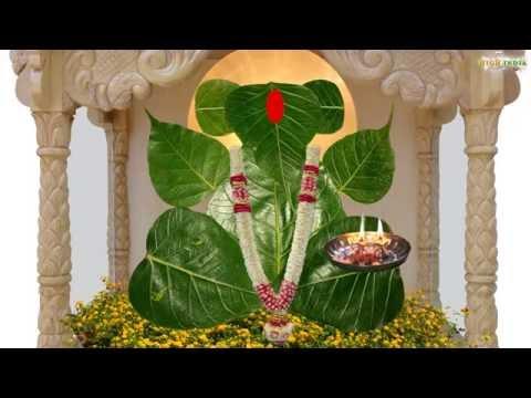 Ganpati idol from Peepal Leaves  DIY