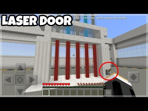 Mincraft PE: Working Laser Door Tutorials