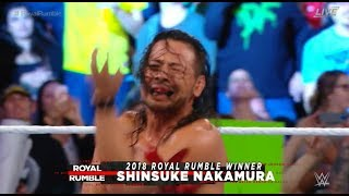 Shinsuke Nakamura Royal Rumble 2018 WINNER! Nakamura WINS Royal Rumble 2018 #royalrumble