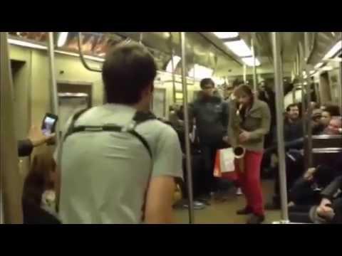 NYC Subway Sax Off (Unplanned)