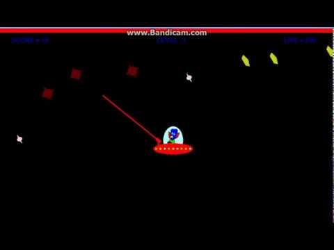 OpenGL C project The Spaceship Shooting Game,2D (with source code)