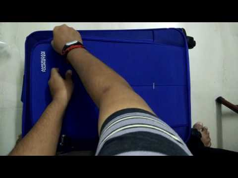 #Unboxing American Tourister Crete Polyester 67cms Ink Blue Softsided Suitcase (49W (0) 01 002)