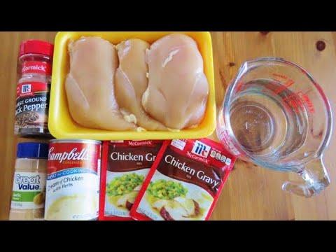 Easy Crockpot Chicken & Gravy