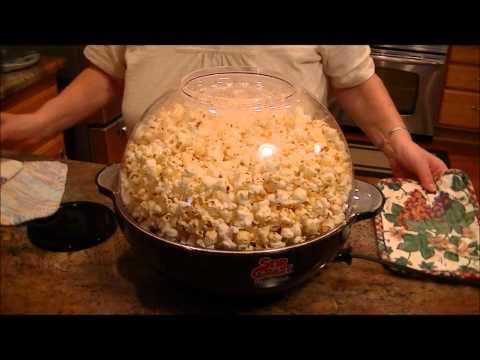 50s Style Stir Popper Nostalgia Electrics Theater Popcorn Popper