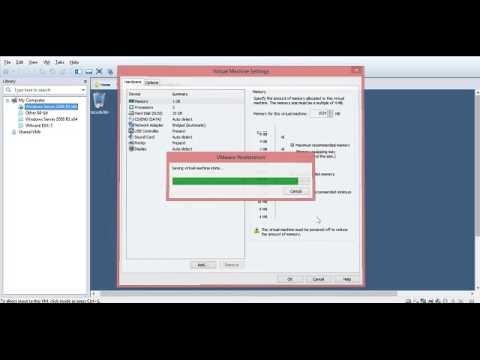 Increasing Memory on a virtual machine vmware
