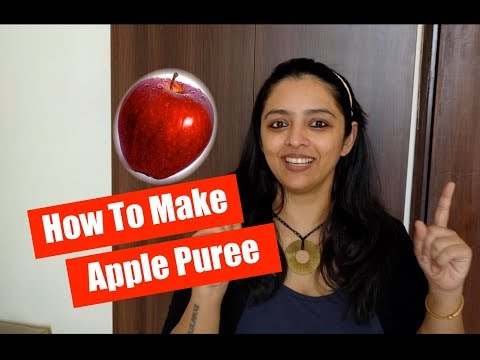 How to make Apple Puree for Babies (First Foods for Babies)