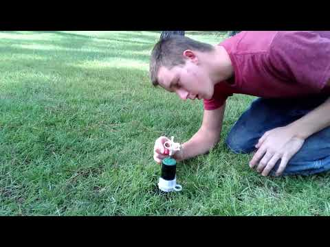 How to replace an orbit sprinkler head nozzle