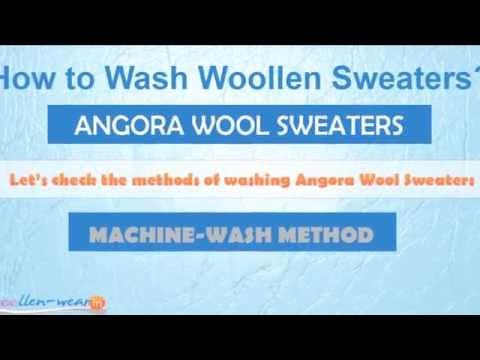 How to Wash Angora sweaters wool sweaters? - Washing Guide - Hand & Machine Wash Method