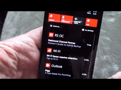 Windows Phone 8.1 Notification and Action Centers
