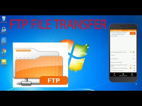 Transfer File PC To Android And Vice Versa Using FTP Server Without USB DATA cable