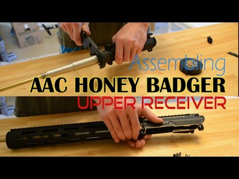 Assembling The Upper Receiver (WE GBB AAC HONEY BADGER BUILD)