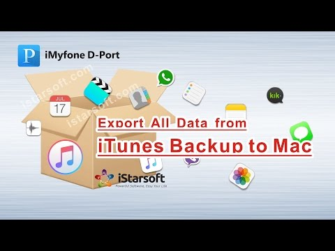 Export All Data from iTunes Backup to Mac